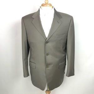 Canali Vintage Mens Wool 3 Button Blazer Sportcoat